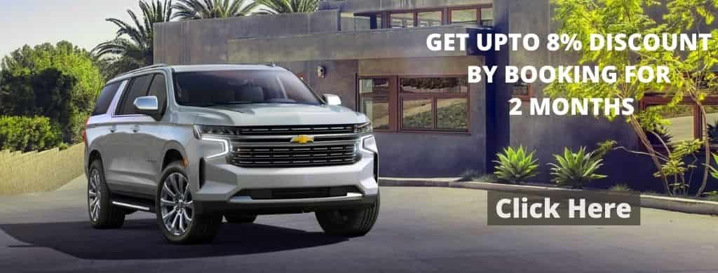 Get Upto 8% for Discount on Chevrolet Tahoe in Dubai